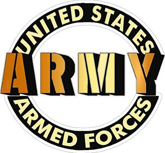 United States Armed Forces Army Vehicle Decal