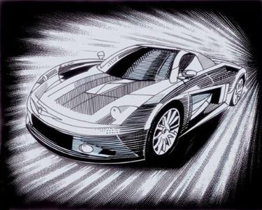 Reeves Scraperfoil Car (Silver) by Reeves