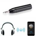 MENCOM Black Audio Aux 3.5mm Bullet Bluetooth V4.1 Wireless Receiver Adapter for Sony Headphones&Car Kits