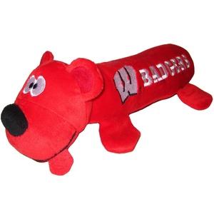 University of Wisconsin Bear Tube Dog Toy