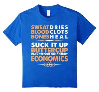 Kids Only Strong Girls Study Economics T-Shirt 12 Royal Blue