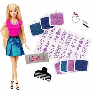 Create Glittery Looks For Barbie Doll Glitter Hair