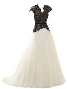 Rachel Weisz Women's High Neck Mermaid Black Appliques Keyhole Back Wedding Dresses Bride Evening Ball Gown Ivory US12