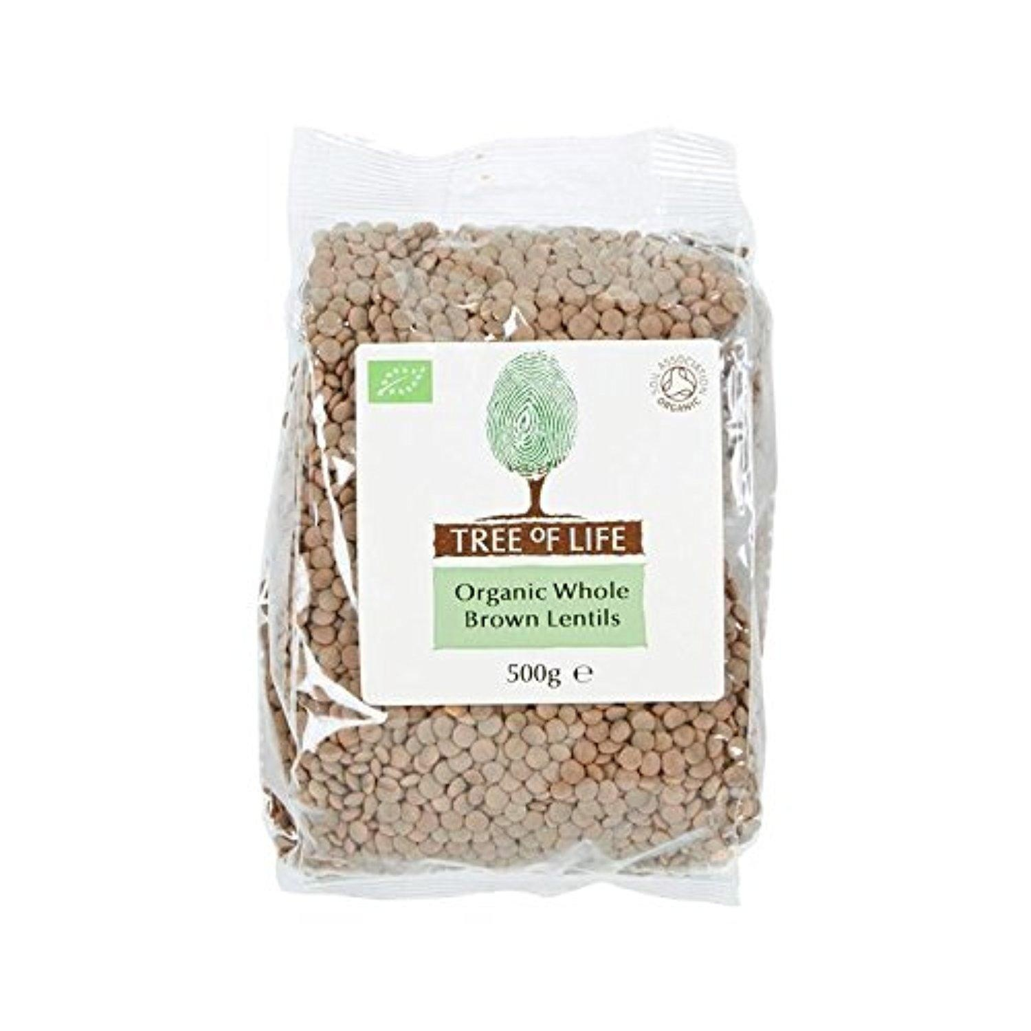 Tree of Life Organic Whole Brown Lentils 500g - Pack of 2