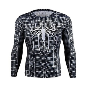3D Spider Man Quick-dry Sport T-Shirt Fitness Gym Cycling Jersey Cosplay Costume (Asian-4XL)