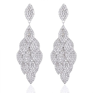 Leaf Laminated Wedding Dangle Earrings for Women or Bridesmaids Bling Earring, Earrings for Girl or Bride M&M Jewelry