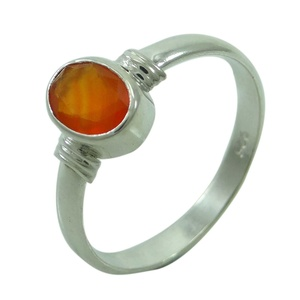 Banithani 925 Pure Silver Exclusive Carnelian Ring Band Indian Jewelry Gift For Women