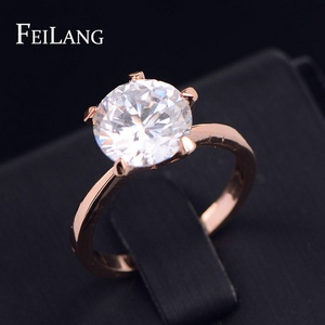 Nachonia Jewelry Classic Design Gold Plated Round CZ Engagement Ring For Wedding/ FSRP092B