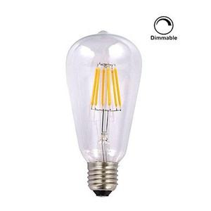 1 pcs kwb E26/E27 6W 6 COB 600 lm Warm White ST64 edison Vintage LED Filament Bulbs AC 110-130 V Dimmable