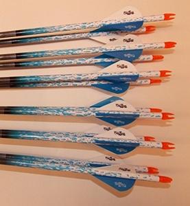 Gold Tip Hunter 5575/400 Carbon Arrows w/Blazer Vanes Bullseye Wraps 1/2 Dz.