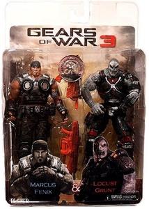 NECA Gears of War 3 Exclusive Action Figure 2Pack Marcus Fenix Locust Grunt by Gear of War 2