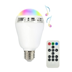 Smart LED Bluetooth Bulb, ALED LIGHT Wireless Bluetooth Bulb Speaker Smart Bulb Smart RGB and Multi-Coloured LED Light Night Bulb Music Player Lighting Lamp with Built-in Bluetooth Mini Speaker