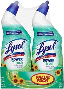Lysol Clean & Fresh Toilet Bowl Cleaner, Cling Gel, Country Scent, 24 oz, Pack of 2 by Lysol