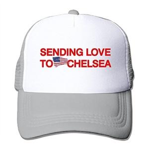 Sending Love To Chelsea Adult Adjustable Trucker Mesh Hat Baseball Cap Ash