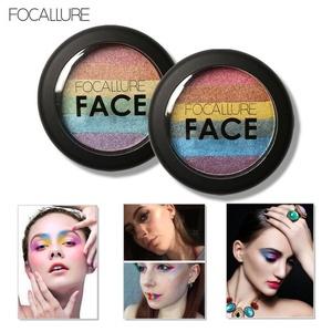 Sagton Focallure Rainbow Highlight Eyeshadow palette Baked Blush Face Shimmer Color (1#)