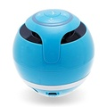 PIXNOR Mini Portable Wireless Bluetooth Rechargeable Super Bass Stereo Speaker with USB Charging Cable and Bulit-in Battery for SmartPhone Tablet PC (Blue)