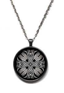 Victorian Vault Steampunk Gothic Industrial Cross Pendant on Chain