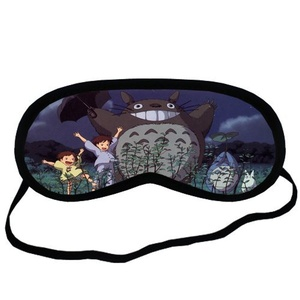 Custom My Neighbor Totoro Sleeping Mask, Comfortable Soft Cotton Sleeping Aids Eye Mask Cover Travel & Work Rest
