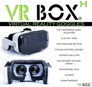 VR BOX-H® Virtual Reality Headset with built-in Headphone