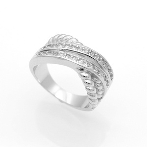 Dudee Jewelry Wedding Band Ring Zircon White Gold Plated Simulated Ring