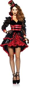 Women's Femme Fatale Steampunk Victorian Vampire Outfit Dress Halloween Costume Medium