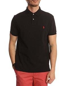 Polo Ralph Lauren Custom Fit Mesh Polo Shirt for Men healty black L