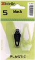 ZlideOn Zipper Pull Replacements Plastic 5-Black by Fix-A-Zipper