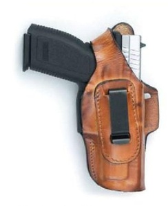 Front Line Fast Draw Inside Outside Four Position Concealed Carry Brown Leather & Suede Gun Holster SIG Sauer P230 P232