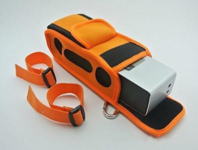 Bissport Travel case with bike cable tie for Bose Soundlink Mini 1/2 (Gen) Bluetooth Wireless Mobile Speaker (Orange)