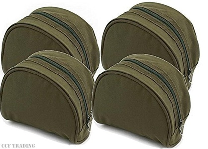 4 X Green Fishing Reel Cases For Coarse Carp Fishing Reels Tackle NGT by NGT