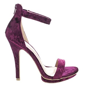 Velvet High Heel Stilettos Double Platform Open Toe Dress Sandal w Ankle Strap (6.5 M US, BlackVelvet)