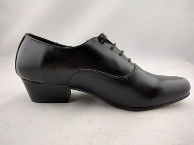 Vanlly Shoes Men's Black Leather Lace-up Dress Shoe Cuban Heel (9.5)