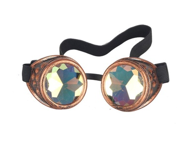 cd25ce48e7fe Careonline Vintage STEAMPUNK GOGGLES Glasses Bling Lens Rustic Goth COSPLAY  PARTY Rivets
