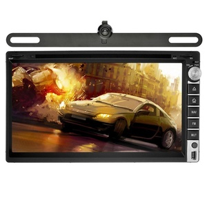 YINUO Universal 6.95 inch Android 5.1.1 Lollipop Car Stereo 2 Din HD Touch Screen Car Radio Receiver DVD GPS Navigation support AM FM Radio Wifi Bluetooth,7colorbuttonillumination,+Backup Camera