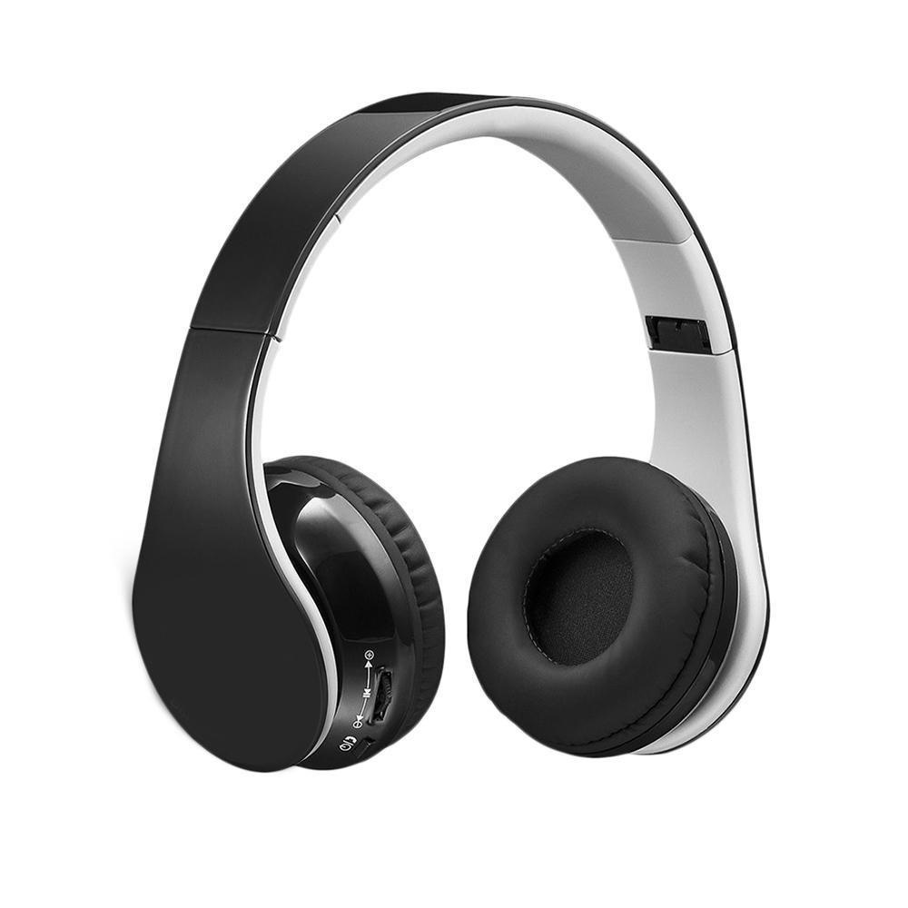 KOBWA Bluetooth Foldable Headphones,V4.0 Over-ear Wireless Hi-fi Stereo Bluetooth Earphones 7 Hours Playing time Built-in Mic With 3.5mm Audio Cable for IOS and Android Smartphones,Tablets(Black)