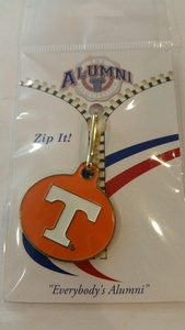 University Tennessee Zipper Pull NIP