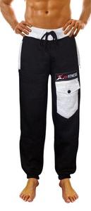 X-2 Men's Active Fleece Joggers Sweatpants Gym Tracksuit Pants Running Gray Pocket Black XXL