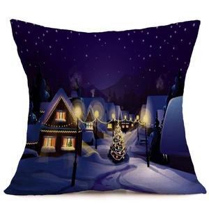 Iuhan® Fashion Christmas Pillow Case Sofa Waist Throw Cushion Cover Home Decor (C)
