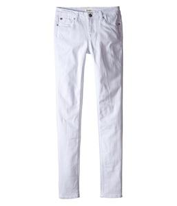 Hudson Kids Girl's Dolly Skinny in White (Big Kids) White Jeans Big Kids