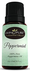 Living Pure Essential Oils #1 Peppermint Oil - Aid Indigestion & Freshen Rooms - Natural Headache Relief - 100% Organic Therapeutic & Aromatherapy Grade, 15ml by Living Pure Essential Oils