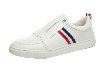 Wantmore Men's Solid Casual Slip on Loafers White US M 6.5