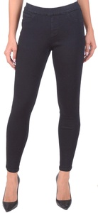 Lola Jeans Women's Sophia Mid Rise Pull On Ankle Stretch Denim Skinny Jean (Black, Size X-Large)