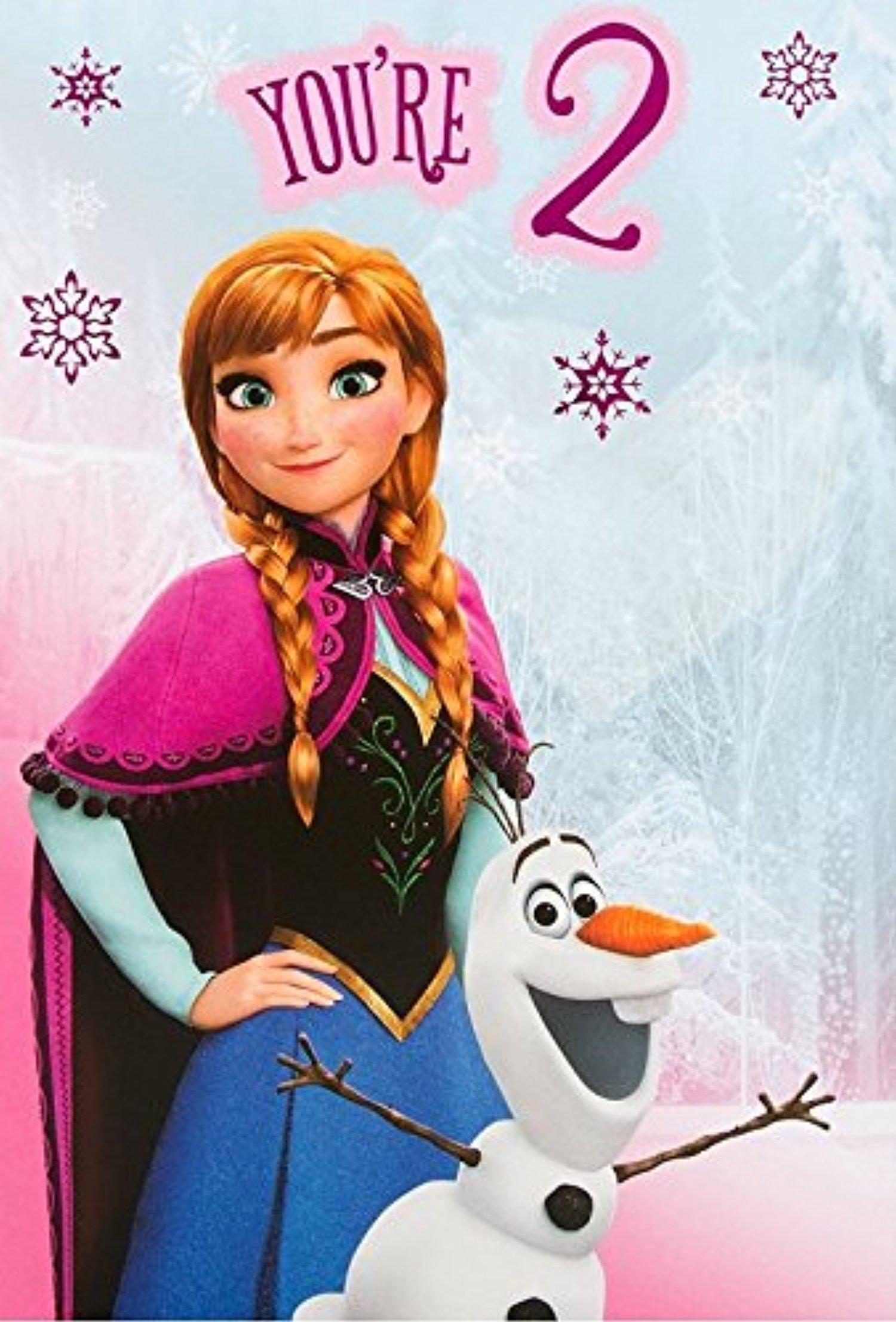 line Store Frozen 2nd Birthday Card