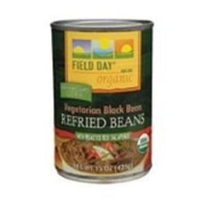 Field Day Beans, Og, Veg Black Refrd, 15-Ounce (Pack of 12) by Field Day