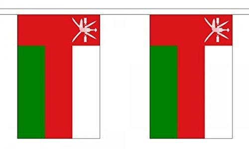 Oman Bunting 9M Metre Length With 30 Flags 9X6 100% Woven Polyester by Oman