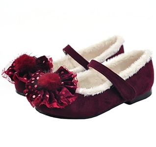 Ozkiz Girls Fiore Mary Jane Flat Shoes Little Kids & Toddler Wine 10M