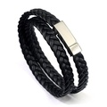 Sheepskin knit men's titanium steel bracelet/ original design hand jewelry for men and women/ rope-A
