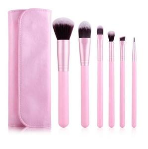 CINEEN 6Pcs Makeup Brushes, Premium Kabuki Makeup Brush Set Professional Blush Blending Eyeshadow Concealer Bronzer Brush Kit