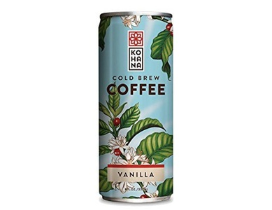 Kohana Coffee Cold Brew Coffee, Tahitian Vanilla, 8 Ounce (Pack of 12) by Kohana Coffee
