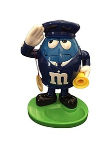 M&M Word Character Candy Dispenser Red Fireman /Blue Policeman (11 x 8 x 6, Blue) by M&M